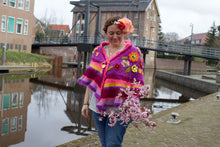 Afbeelding in Gallery-weergave laden, Crochet shawl wrap fro sale mohair silk alpaca by pollevie nr3