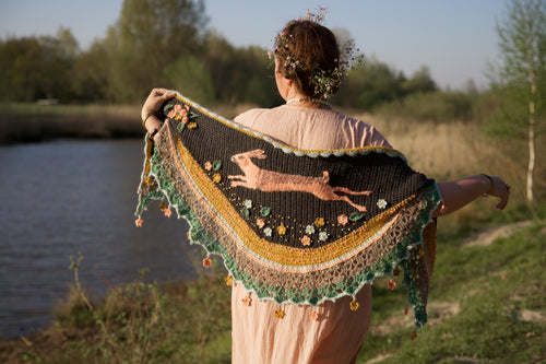 Crochet Pattern Hare Shawl by Pollevie