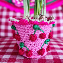 Afbeelding in Gallery-weergave laden, Crochet kit Flowerpot PINK/RED US/ UK  terms