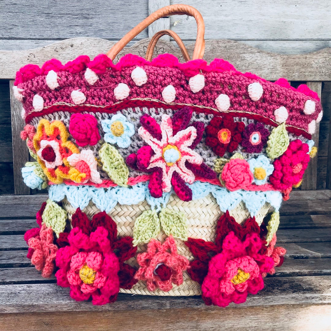 crochet pattern spring garden bag by pollevie