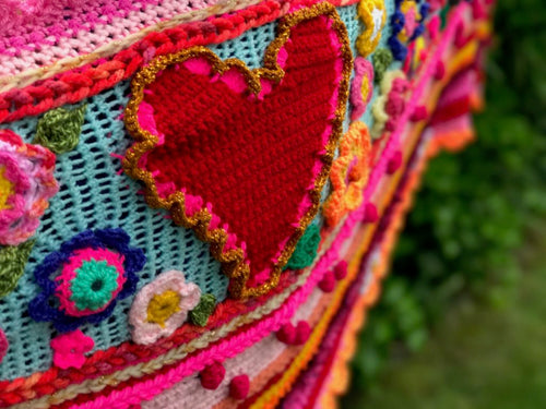 free crochet pattern heart by pollevie