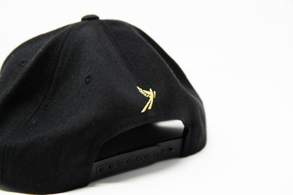 FC Tulsa Flat Bill Cap - Black - Embroidered