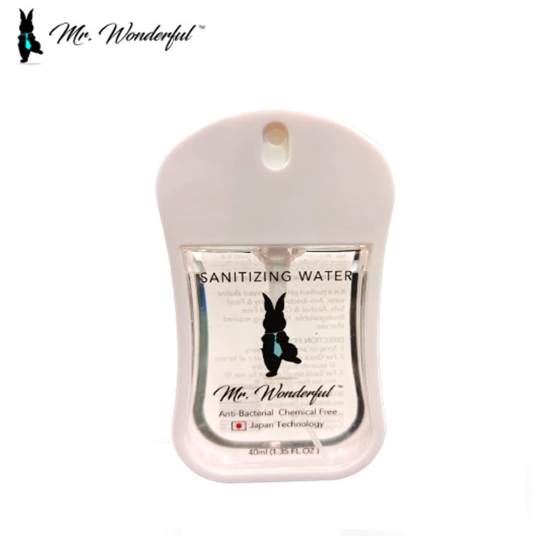 Mr Wonderful Sanitizing Water - Travel Card