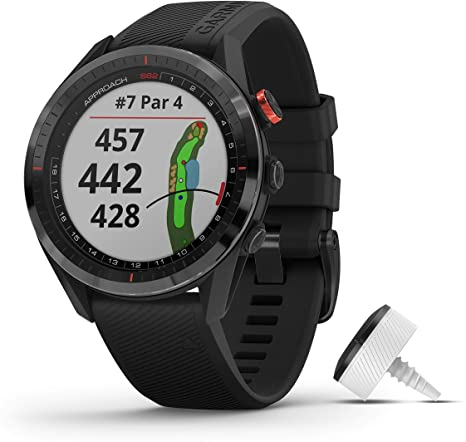 Garmin - Approach S62 w/CT10 Bundle, Golf GPS, Black, WW