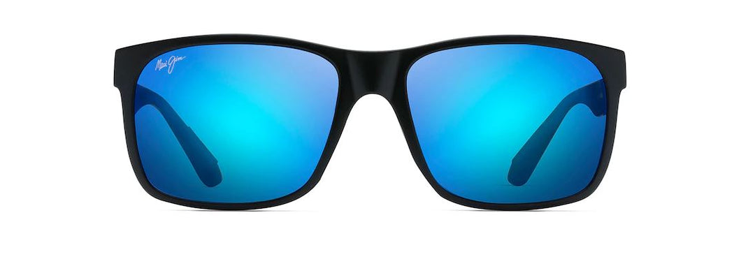 MAUI JIM - RED SANDS MATTE BLACK/BLUE HAWAII