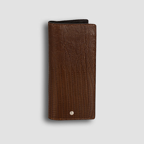 Lizard Long Wallet Tan