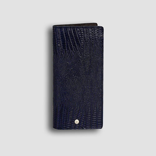 Lizard Long Wallet Navy
