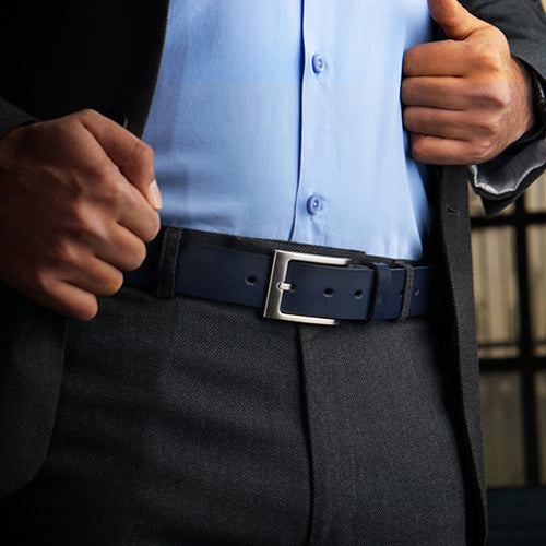 Pull Formal Belt Navy