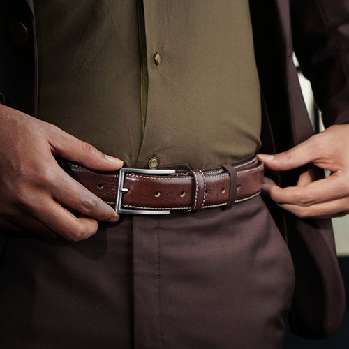 Old Fashion Formal Belt Tan