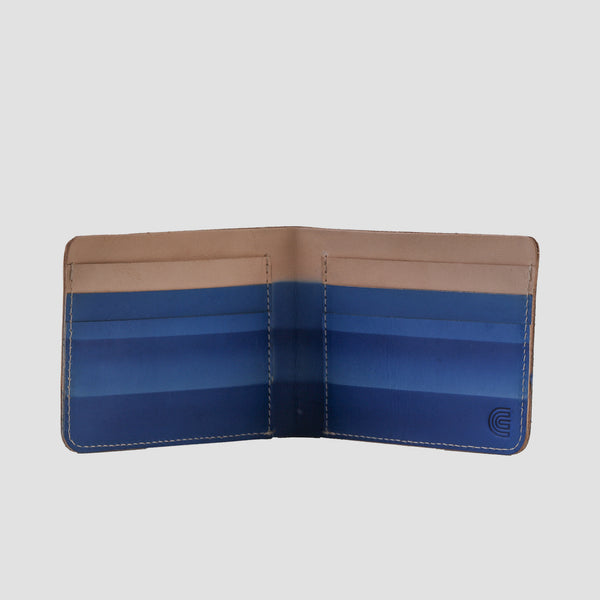 Rainbow Bi-fold Wallet Blue