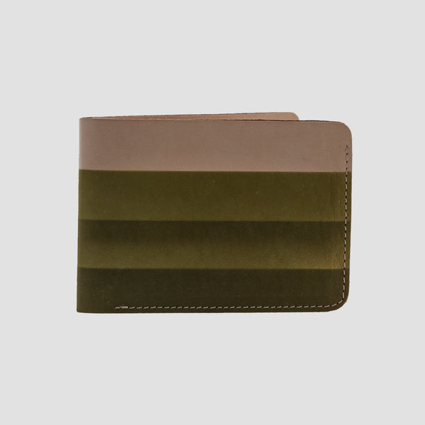 Rainbow Bi-fold Wallet Green