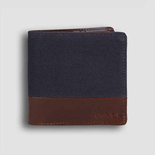 Leavas Bi-fold Tan+Navy