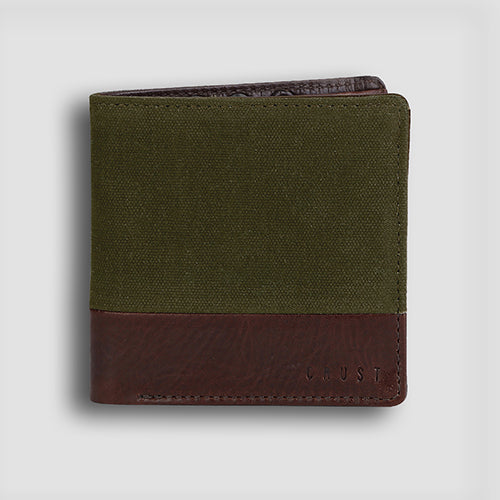 Leavas Bi-fold Tan+Olive