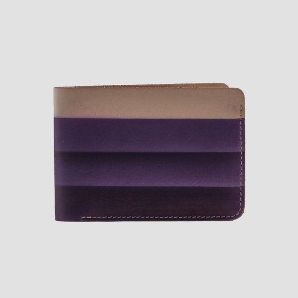 Rainbow Bi-fold Wallet Purple
