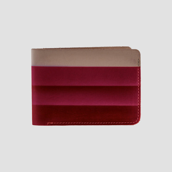 Rainbow Bi-fold Wallet Wine