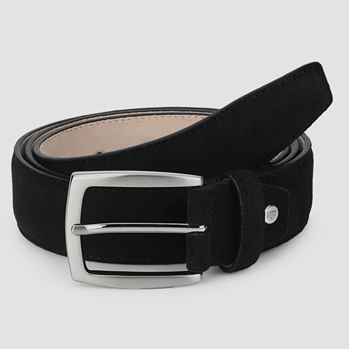 Suede Formal Belt Black