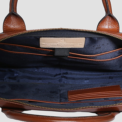 Buff Vachetta Laptop Bag Cognac