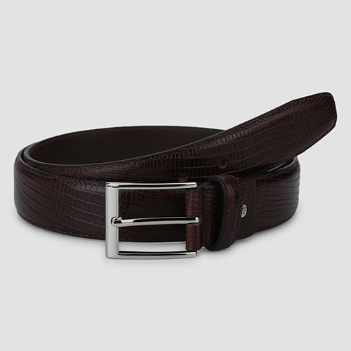Lizard Formal Belt Brown