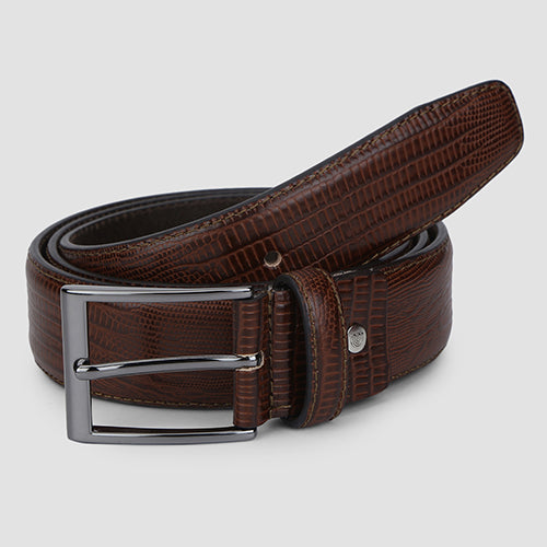 Lizard Formal Belt Cognac