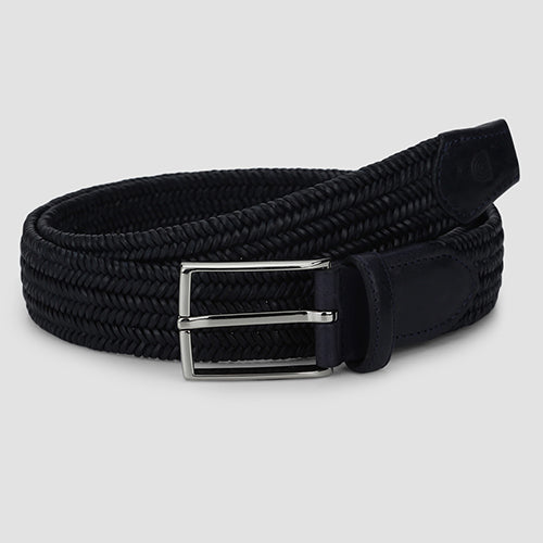 Fine Weave Casual Belt Navy