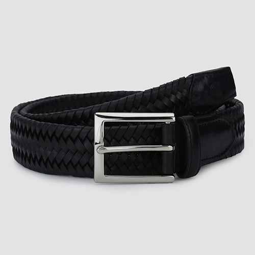 Big Weave Casual Belt Black