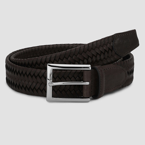 Big Weave Casual Belt Brown