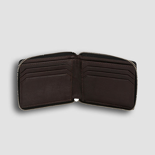Lizard Zipper Bi-fold Black
