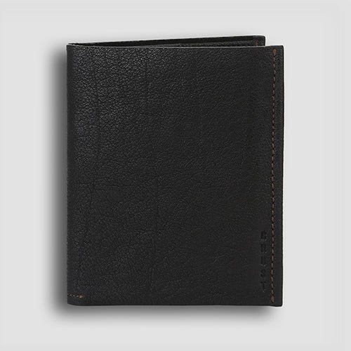 Washed Passport Holder Black