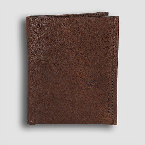 Washed Passport Holder Brown