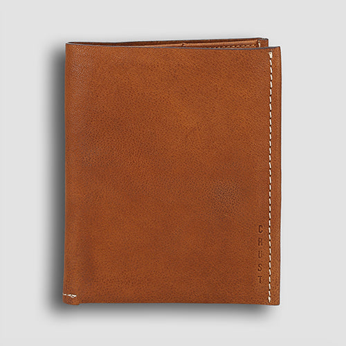 Washed Passport Holder Cognac
