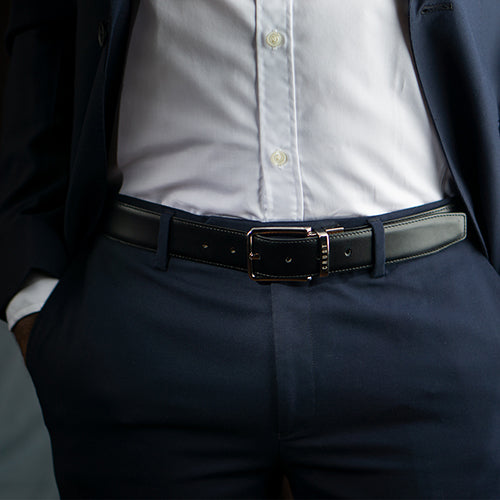 Suave Reversible Belt Black + Brown