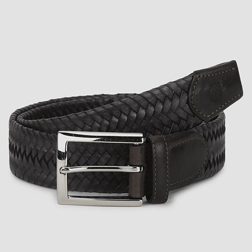 Big Weave Casual Belt Grey
