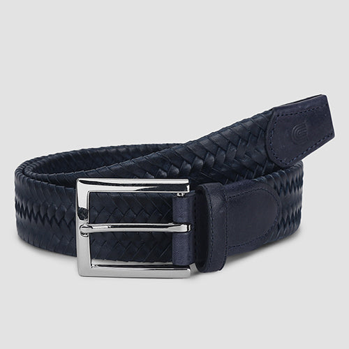 Big Weave Casual Belt Navy