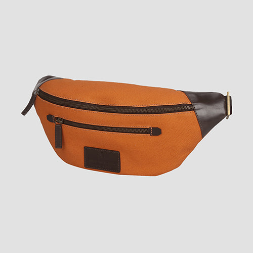 Leavas Fanny Pack Orange + Brown