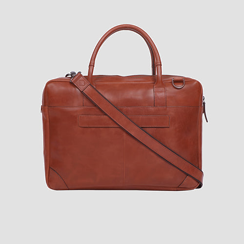 Bovine Laptop Bag Cognac