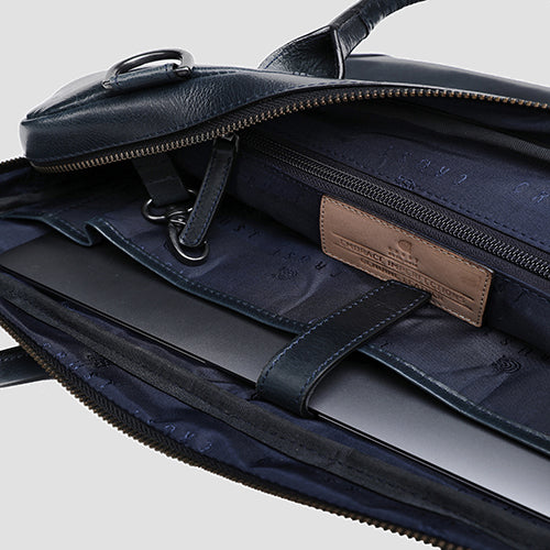Bovine Laptop Bag Navy