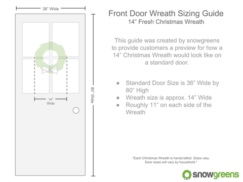 14 inch christmas wreath sizing guide