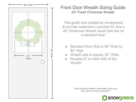 24 inch christmas wreath sizing guide