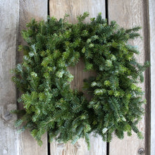 Load image into Gallery viewer, 20 Inch Fresh Fraser Fir Square Wreath