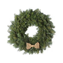 Load image into Gallery viewer, 24 Inch Crochet Bow Tie Christmas Wreath