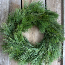 Load image into Gallery viewer, 24 Inch White Pine Fresh Christmas Wreath