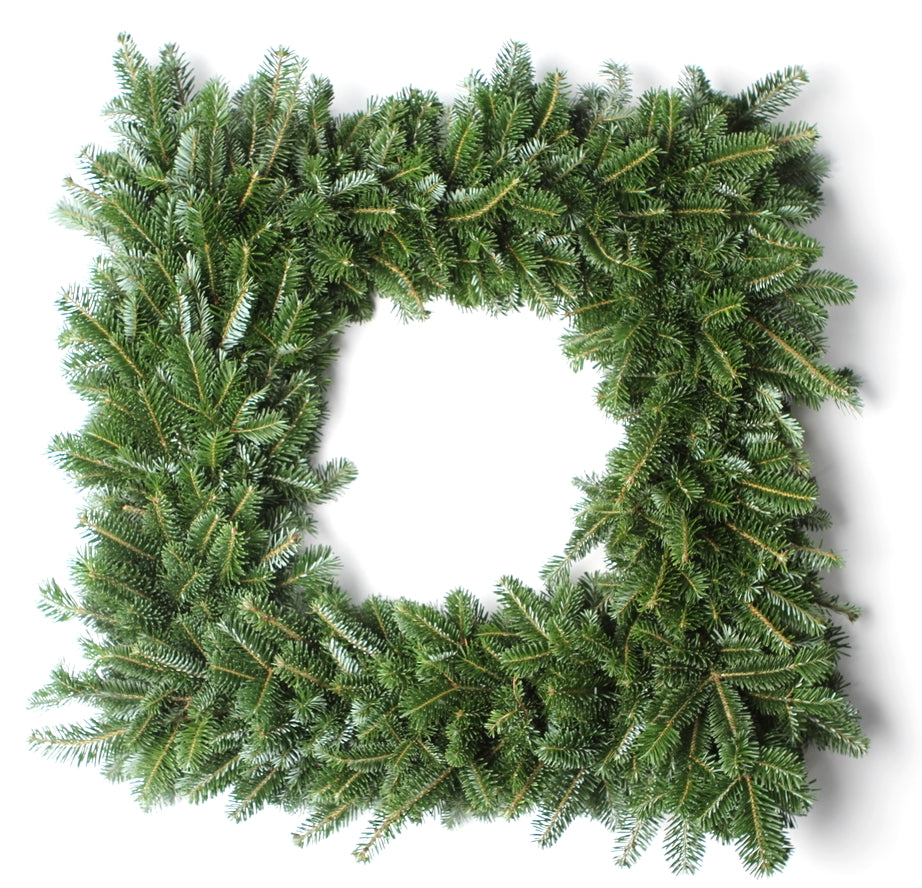 30 Inch Fraser Fir Square Christmas Wreath