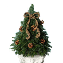 Load image into Gallery viewer, Crochet Bow Tabletop Christmas Tree