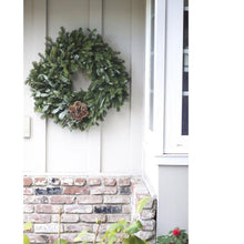 Load image into Gallery viewer, 24 Inch Pine Cone Blossom Christmas Wreath