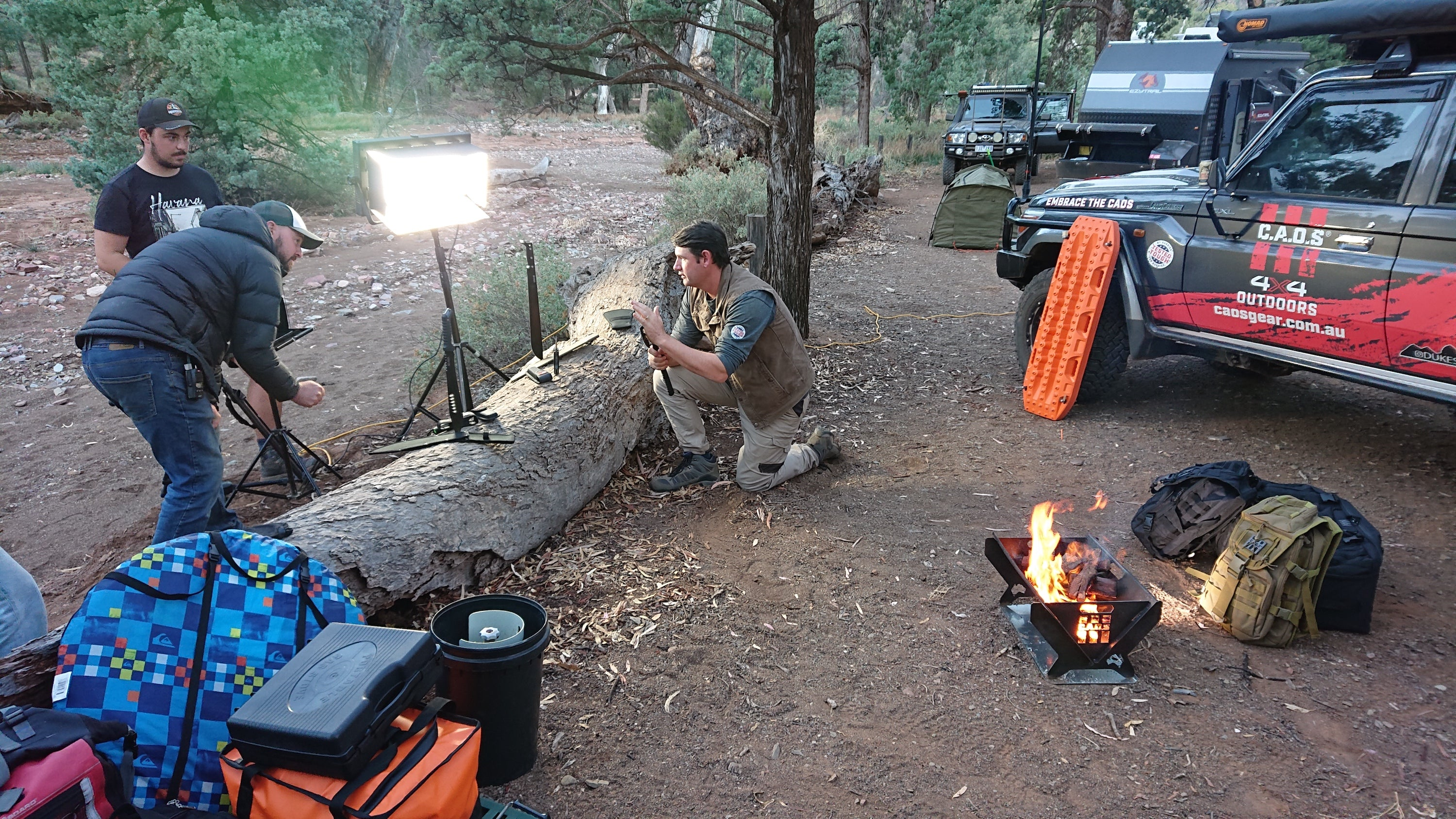Filming At The Koolamon Campground