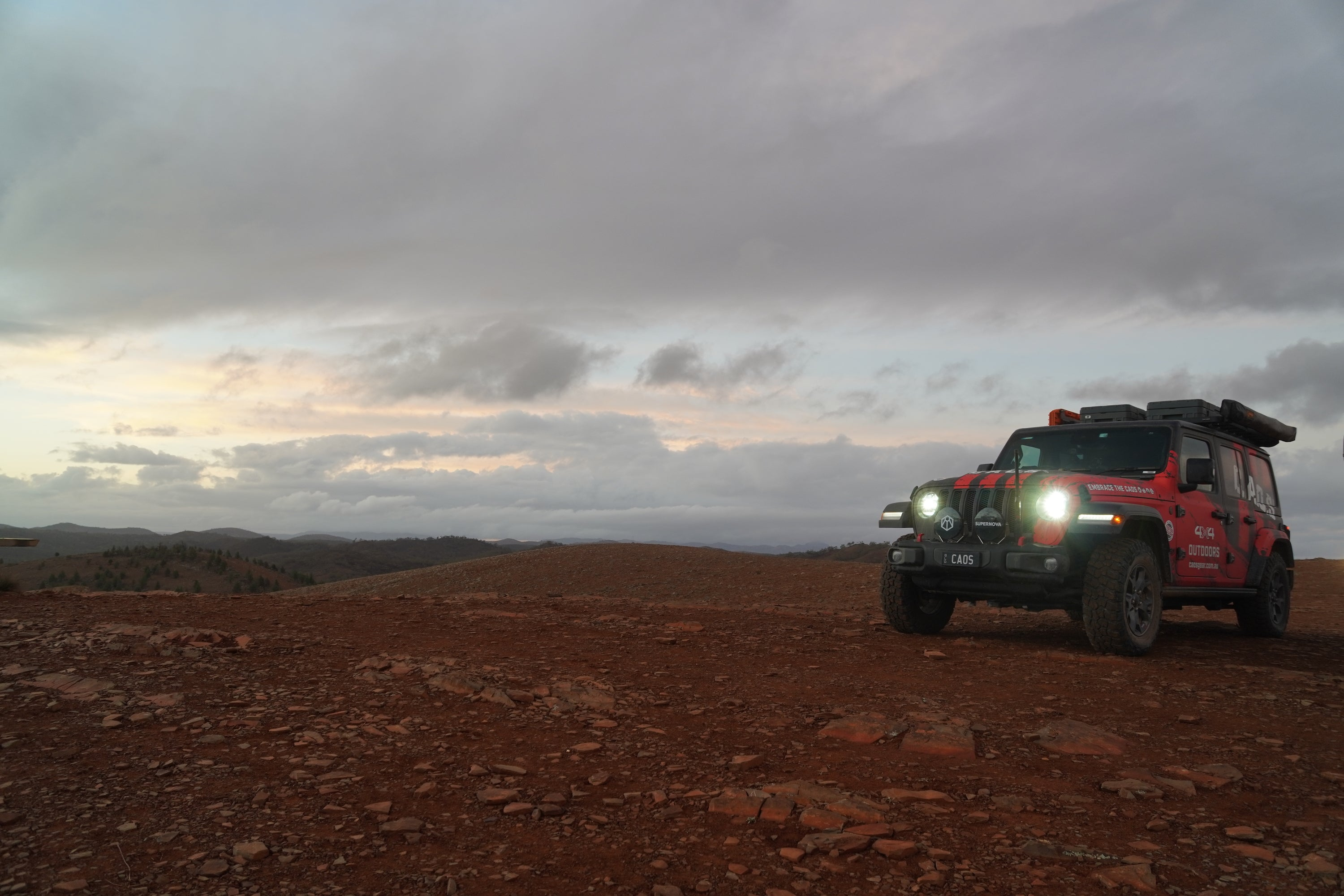 Sunset At Alpana Station with CAOS 4x4