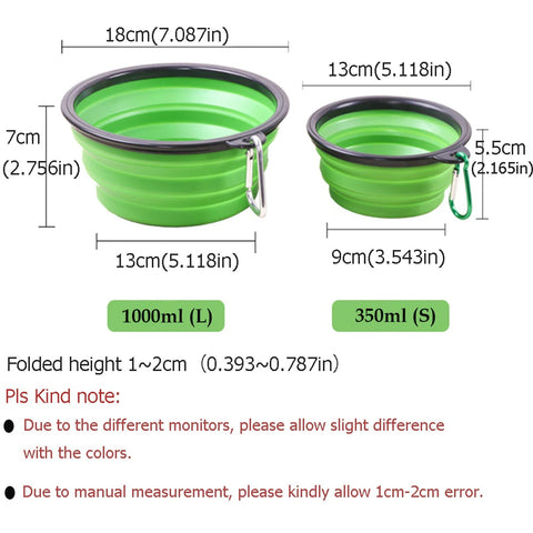 Pet Cat Dog Bowl Feeder Silicone