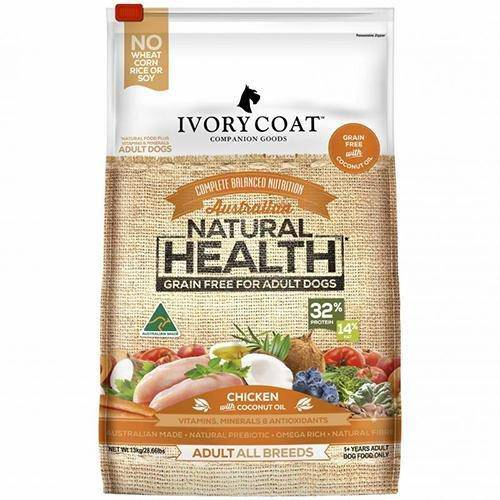 Ivory Coat Dry Dog Food Chicken with Coconut Oil 13Kg - petazaustralia
