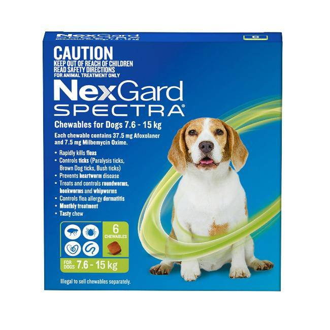 Nexgard Spectra For Medium Dog 7.6-15kg - petazaustralia