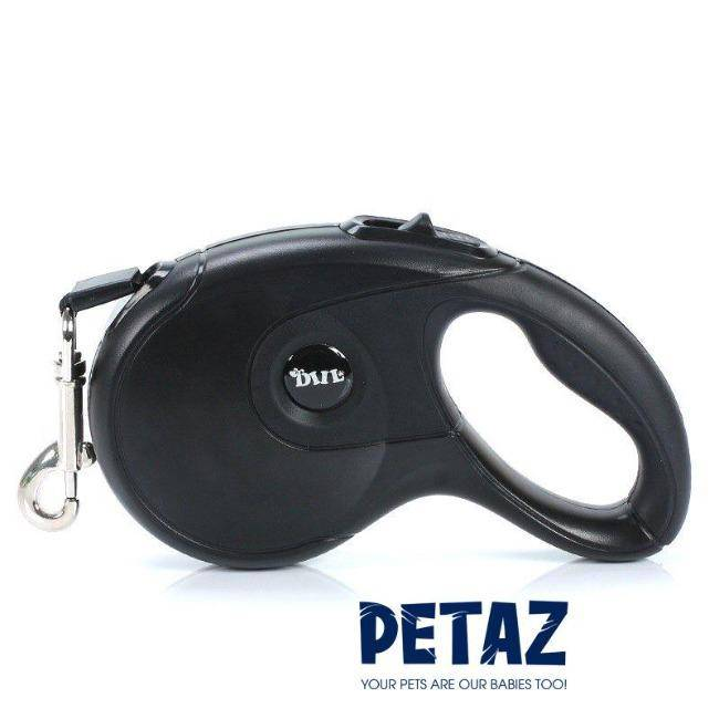 Retractable Dog Lead Leash Training Extendable Black 5M - petazaustralia